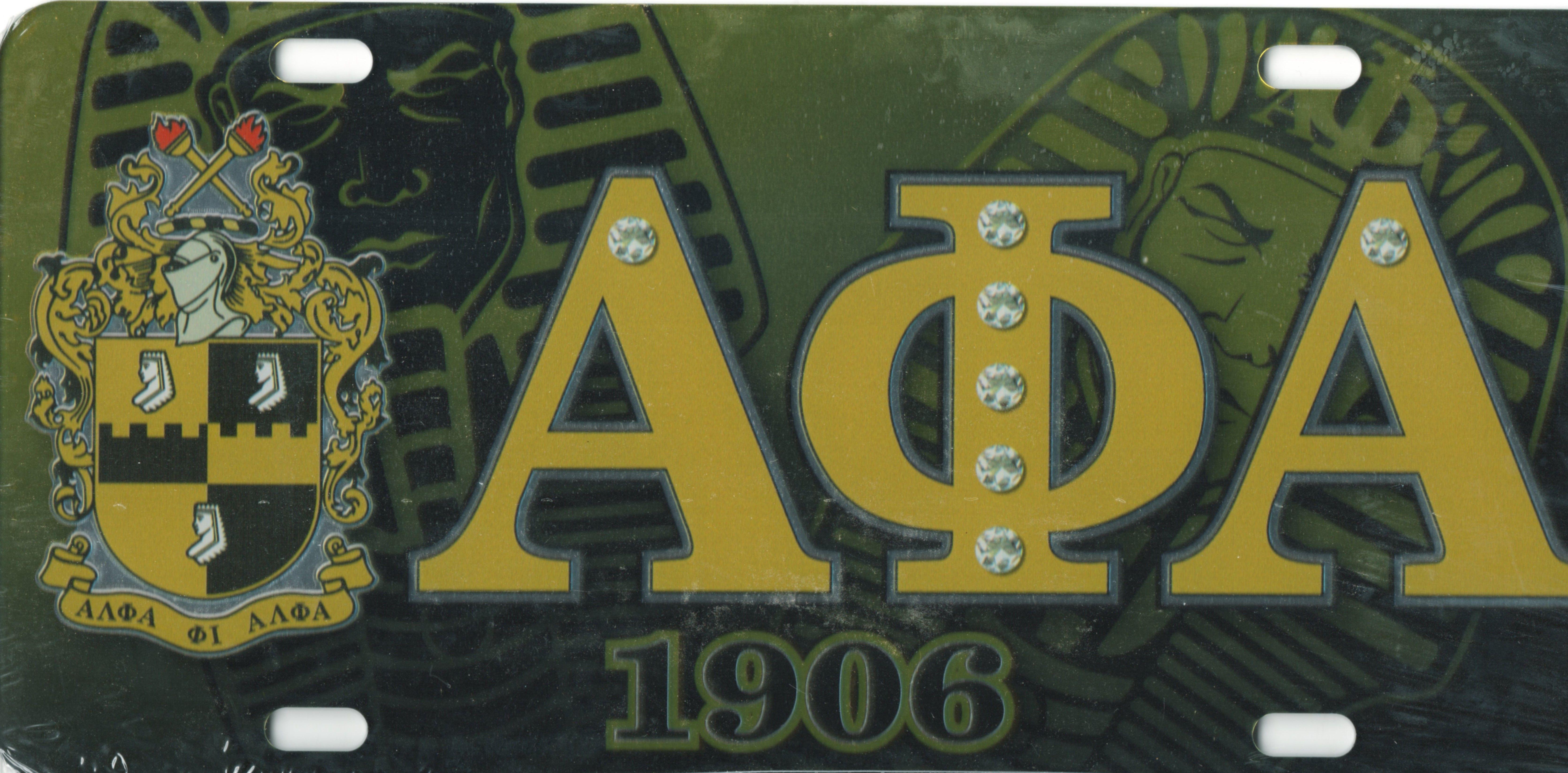 Alpha Phi Alpha - Printed Crest License Plate