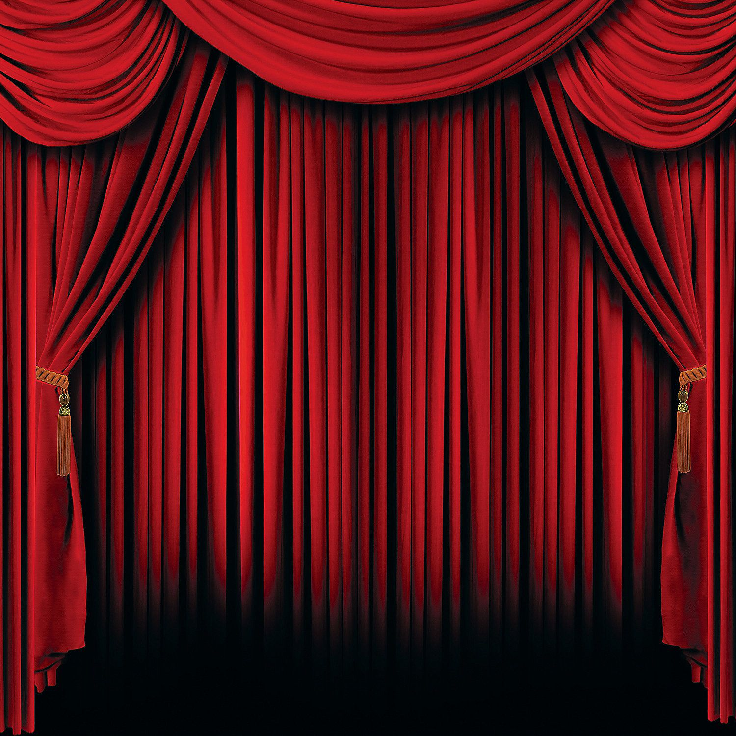 Blue curtain backdrop - Red Curtain Backdrop Banner Orientaltrading Com 10 00 Great For A Picture Back Drop