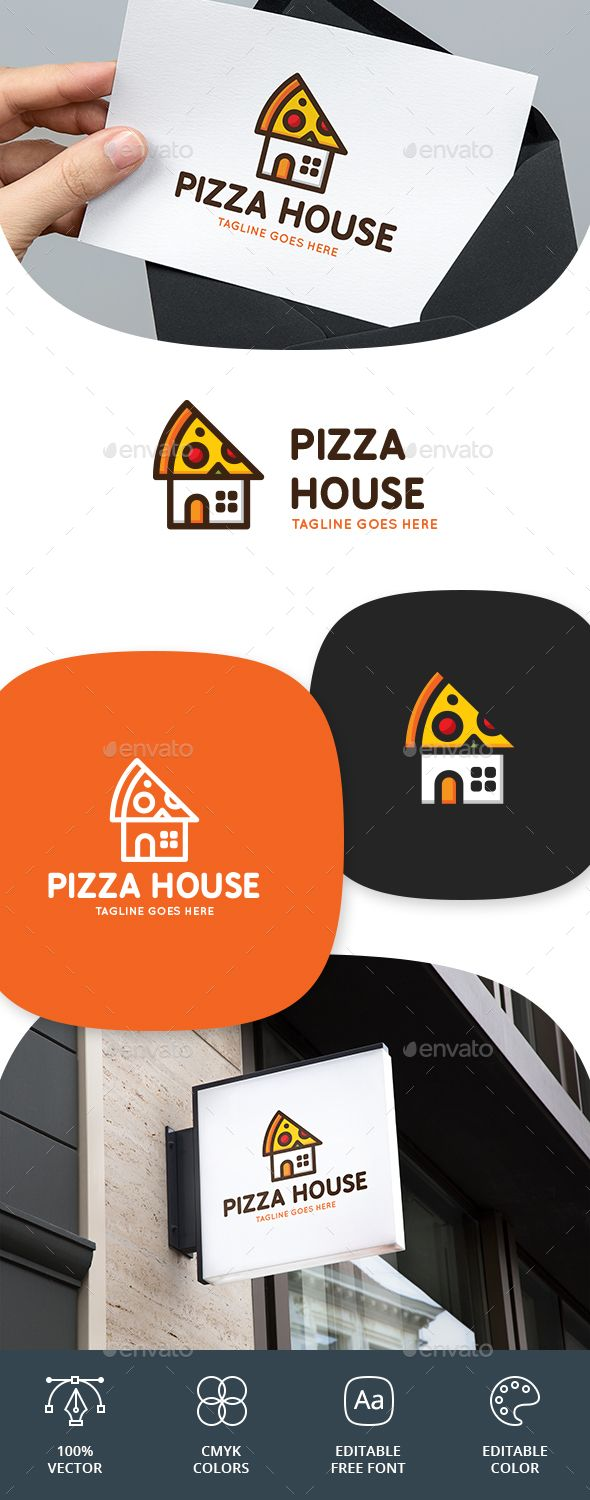 Pizza House Logo Food Logo Templates Download here