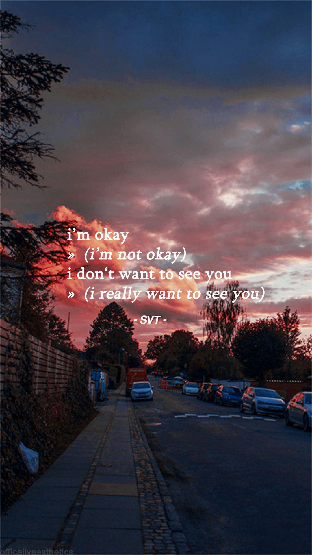 Kpop Quotes Wallpaper 187 Seventeen Aesthetic Lyrics Lockscreens Left Highlight