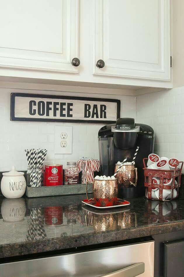 cocoa bar or cold/flavored water bar...near entryway or in mudroom ...