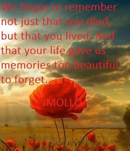 remember that you loved anzac day picture quote | Picture ...
