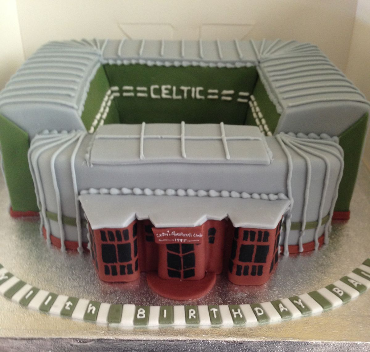 Celtic Football Stadium Cakes by Time for CakeGlasgow