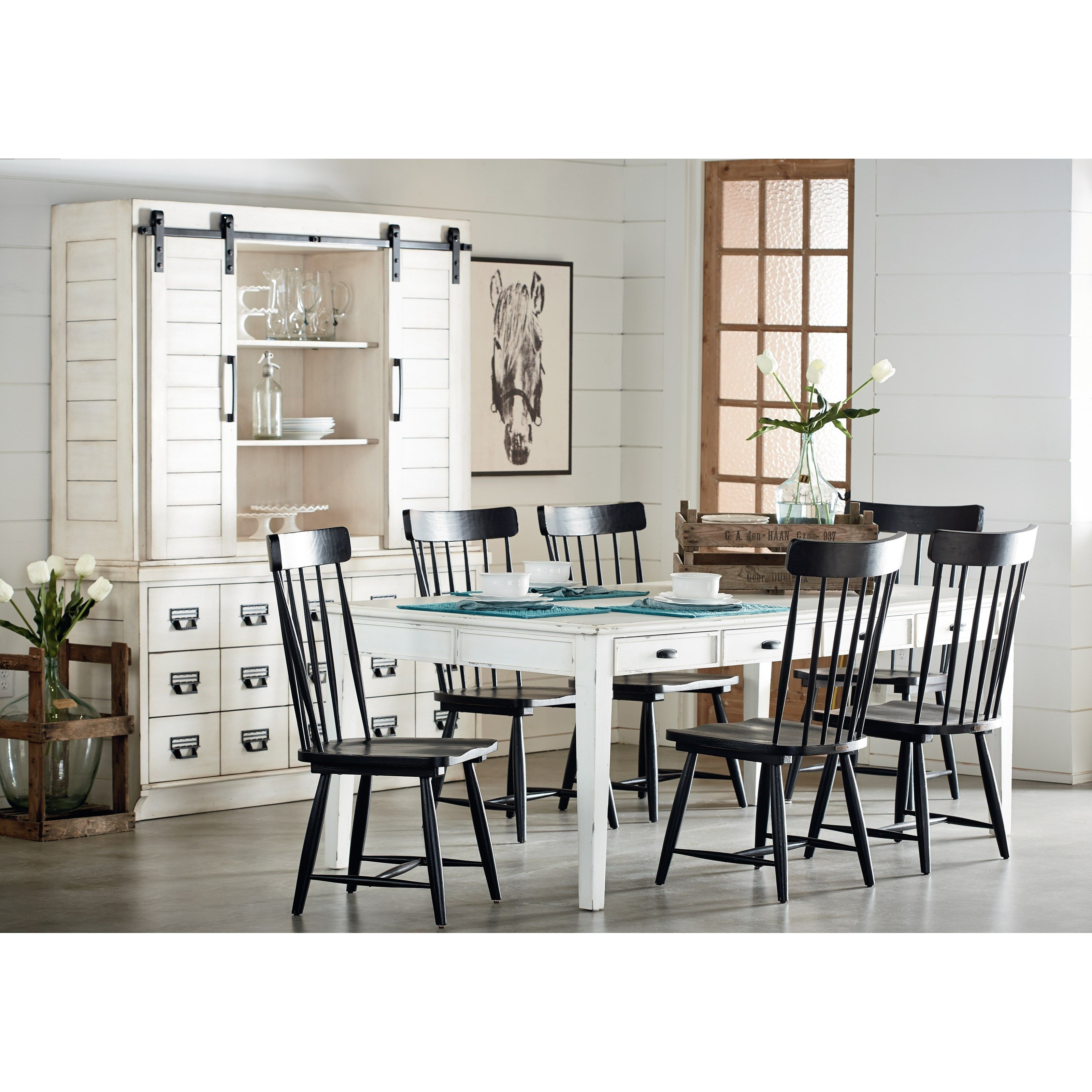 Farmhouse Kitchen Dining Group by Magnolia Home by Joanna Gaines