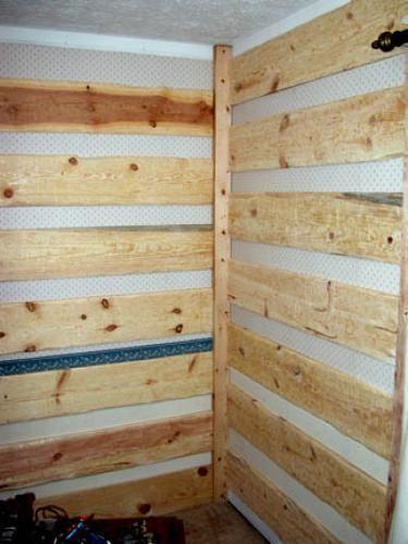 Fake Log Cabin Doityourself Com Faux Cabin Walls Log Cabin