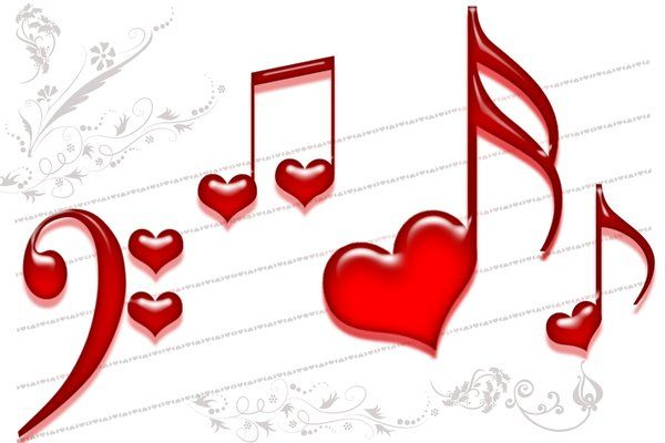 Heart Music Notes Love is music