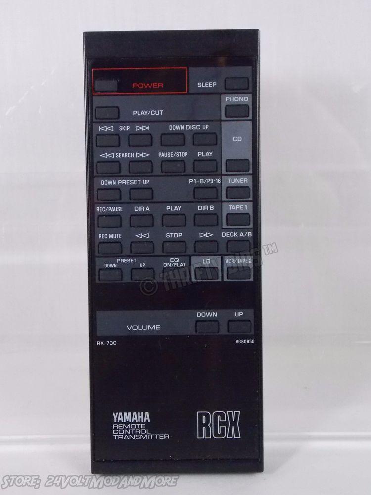 Genuine OEM Yamaha RX-730 Stereo Remote Control RCX VG80850