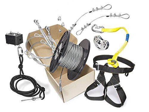Robot Check Zip Line Kits Ziplining Combo Kit