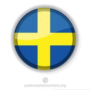 Publicdomainvectors Org Circular Shape With Flag Of The Kingdom Of Sweden Swedish Flag Flag Vector Flag