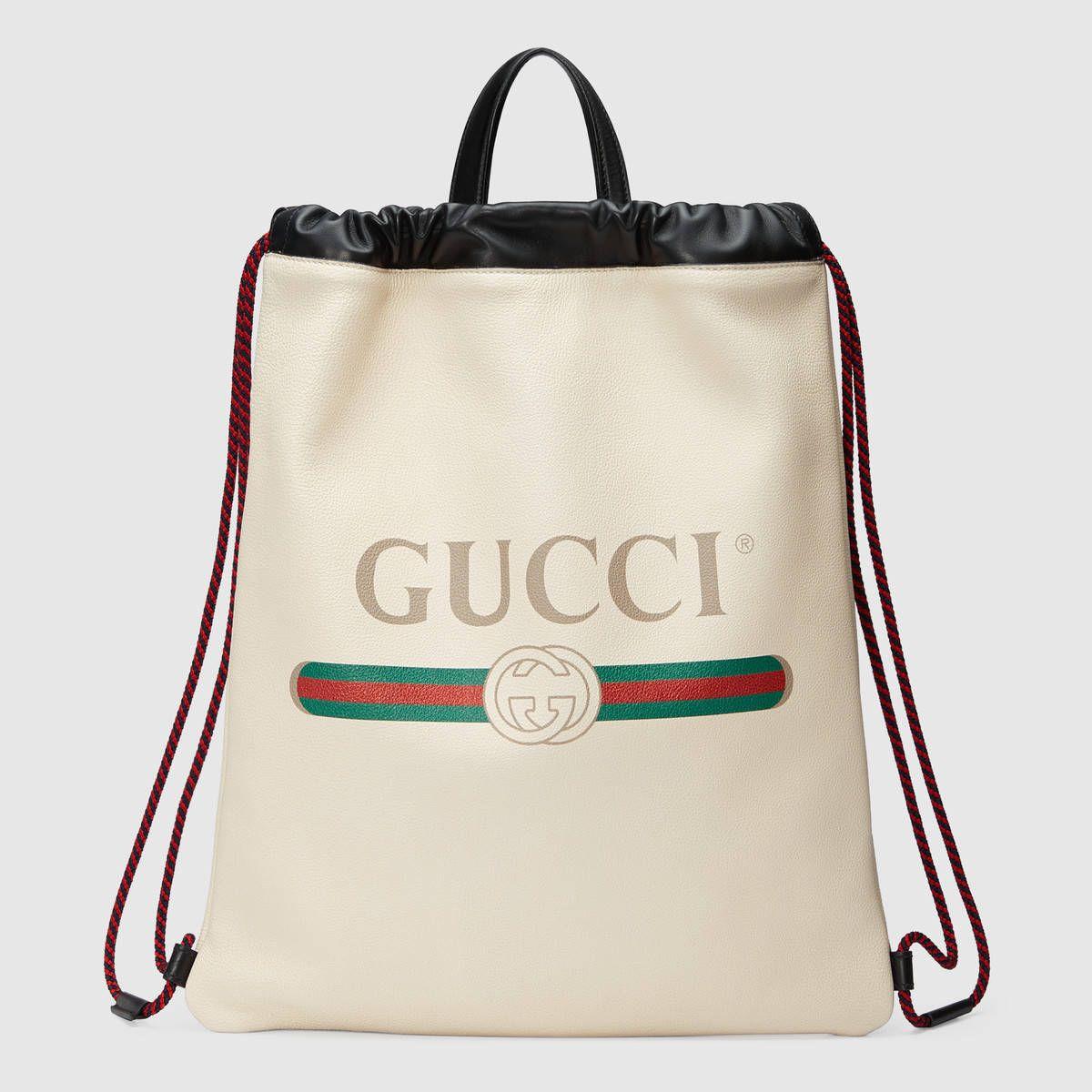 Sac à dos en cuir Gucci Print PsbbBh1rT