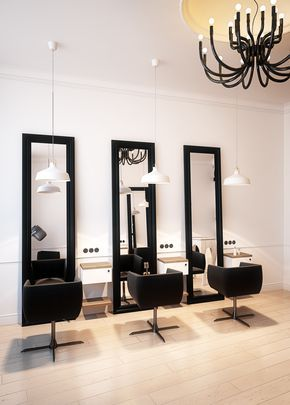 Hairdresser interior design in Bytom POLAND - archi group. Salon ...
