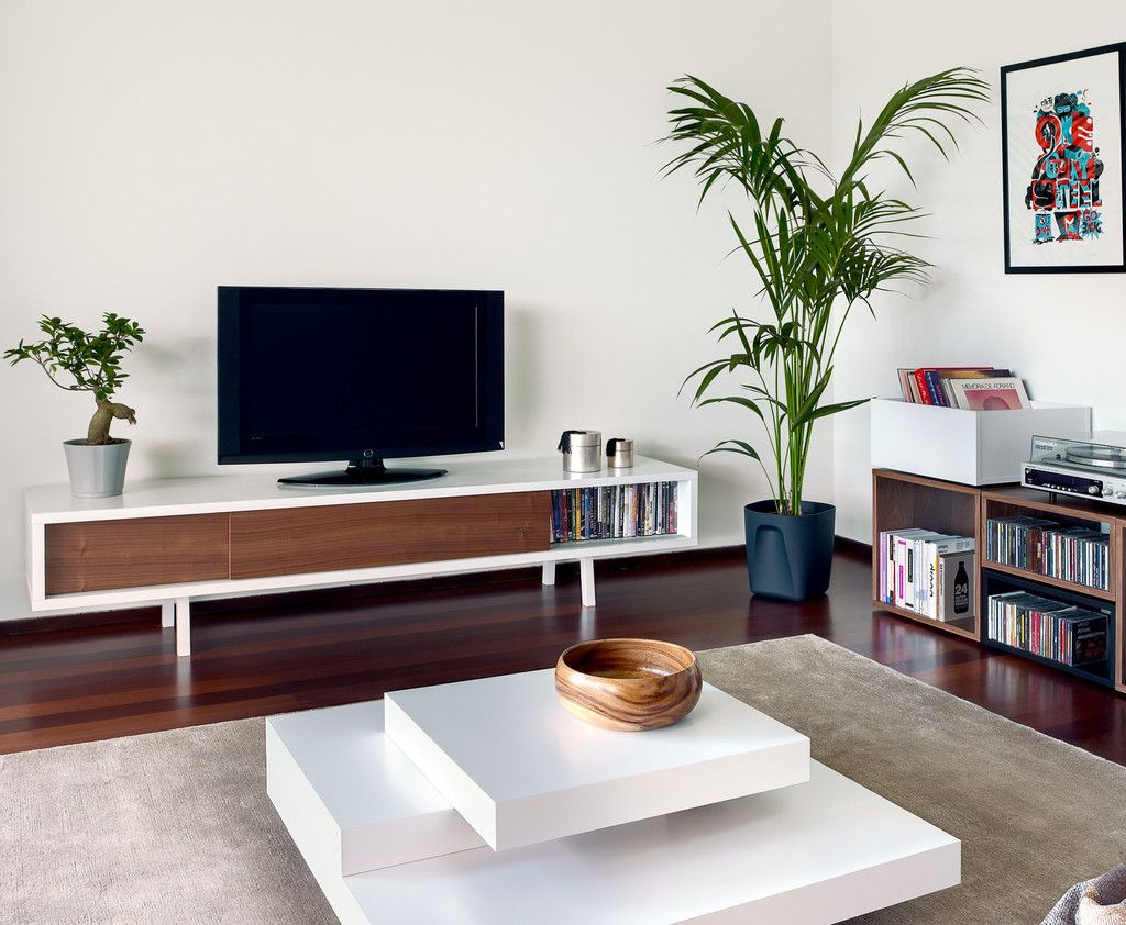 Minimalist walnut tv stand apartment pinterest tv for Minimalist living without furniture