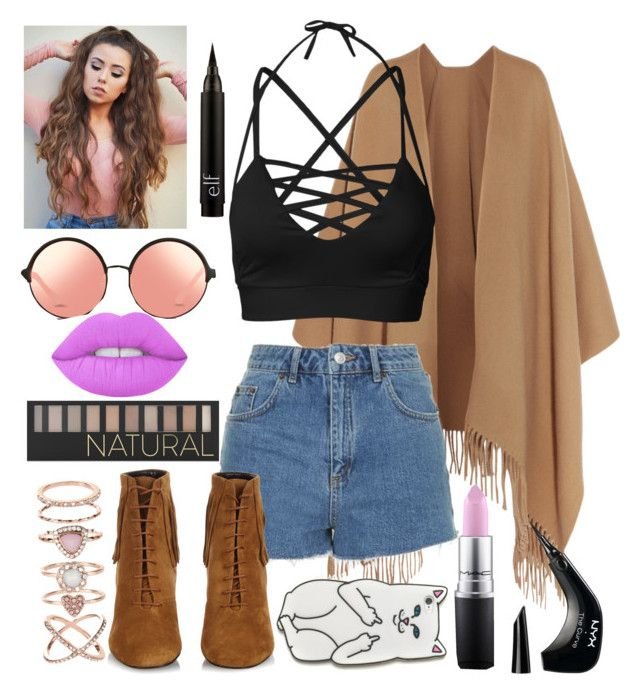 """""""Going to my BESTIES """" by bugs-bunny99 ❤ liked on Polyvore featuring Acne Studios, Topshop, Lime Crime, Matthew Williamson, Yves Saint Laurent, RIPNDIP, Accessorize, Forever 21, NYX and MAC Cosmetics"""