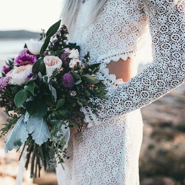 Leave it to @daughtersimone to make the crochet wedding dress of our dreams.