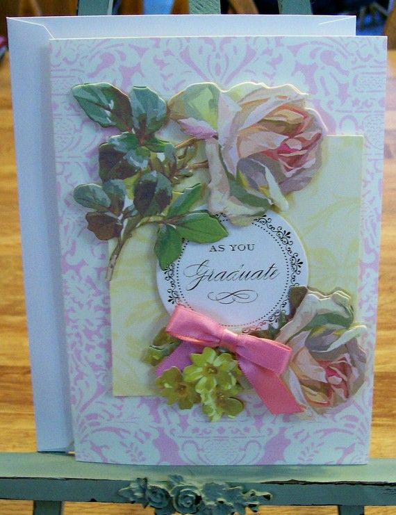 Images Of Handmade Anna Griffin Cards | Handmade GRADUATION Card Anna  Griffin Design And Supplies Vintage