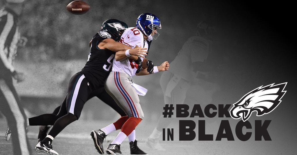 One year ago today: #BlackSunday One week from today: #BackInBlack  #Eagles to rock all black everything on #MNF