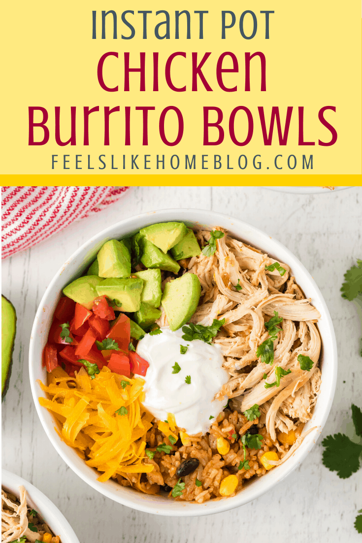 Chicken Burrito Bowls in the Instant Pot -   19 healthy instant pot recipes chicken burrito bowl ideas