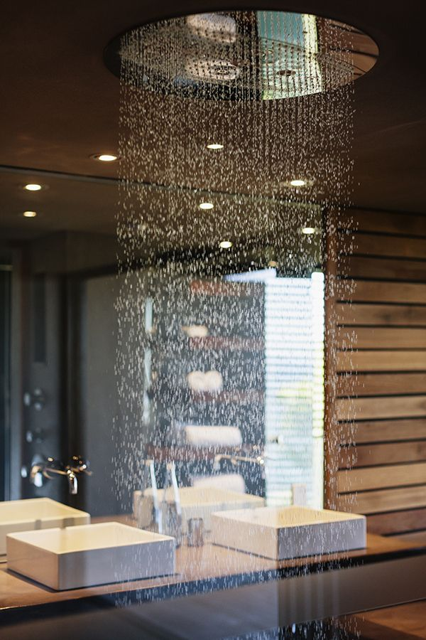 Under An Indoor Waterfall In The Middle Of Your Own Bathroom