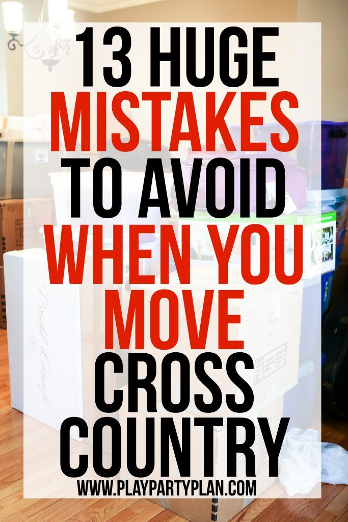 Love these 13 mistakes to avoid when moving cross country, so many - creating checklist