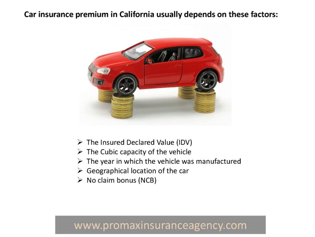 Auto insurance rates in California, are usually seen as