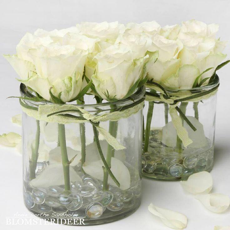 Rosen Im Glas Deko Deko Glas Im Rosen Bloemen Versieringen Bloemstukken Tafelversiering