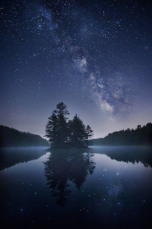night sky stars lake dark screensavers pinterest sky night