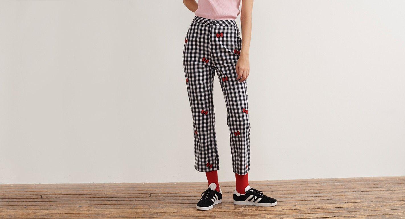 57a75a06f Hello Kitty x Lazy Oaf Bow Gingham Trousers - Hello Kitty x Lazy Oaf -  Featured - Womens