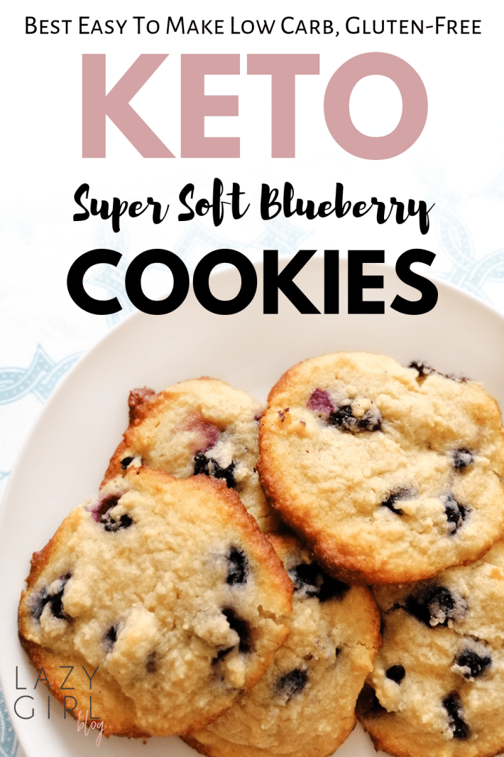 Keto Blueberry Cookies – Best Low Carb Super Soft Cookies #ketocookierecipes