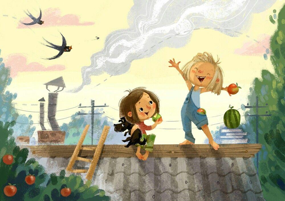 Рисунки о детях смешные, картинки про