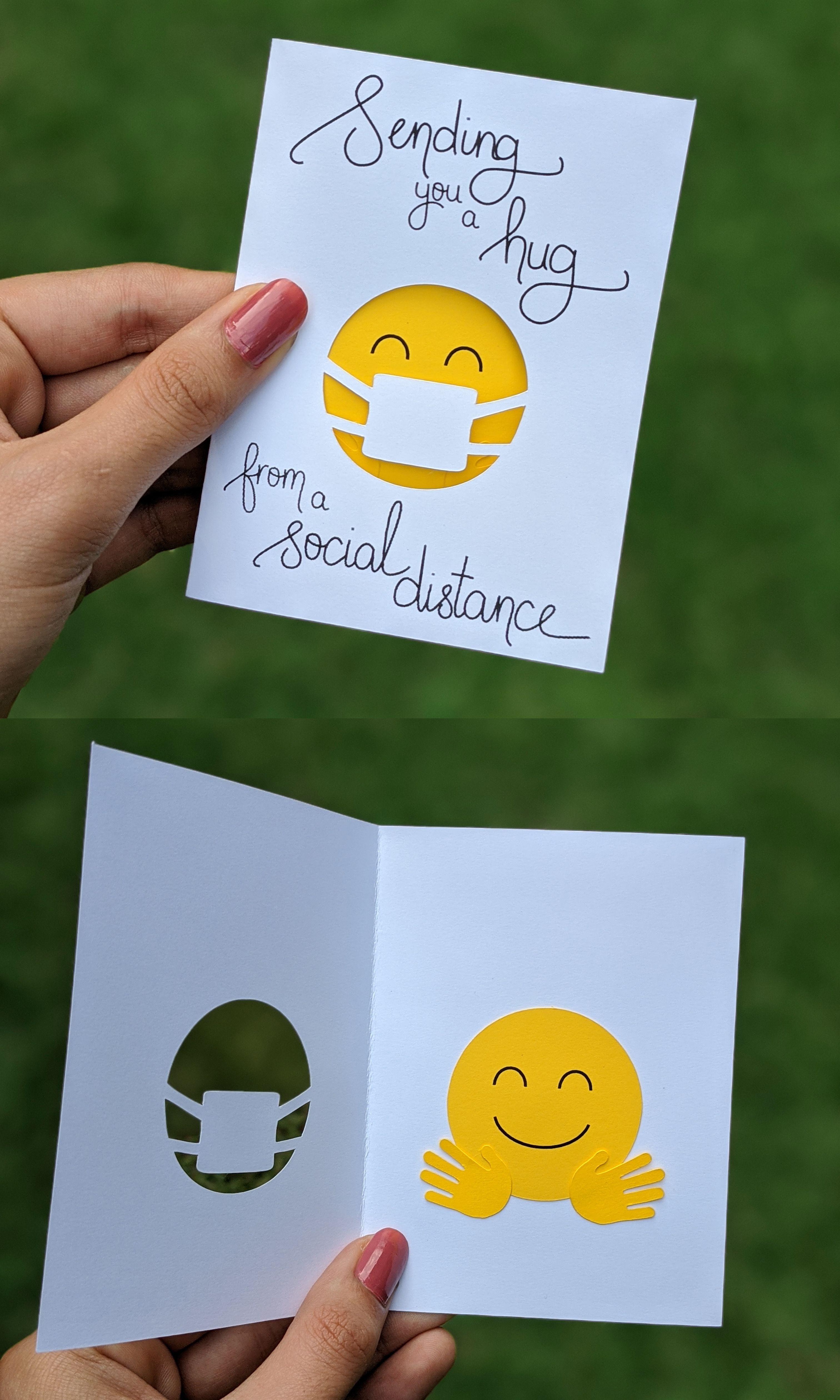 Sending you a Hug | Mini Quarantine Miss You Card