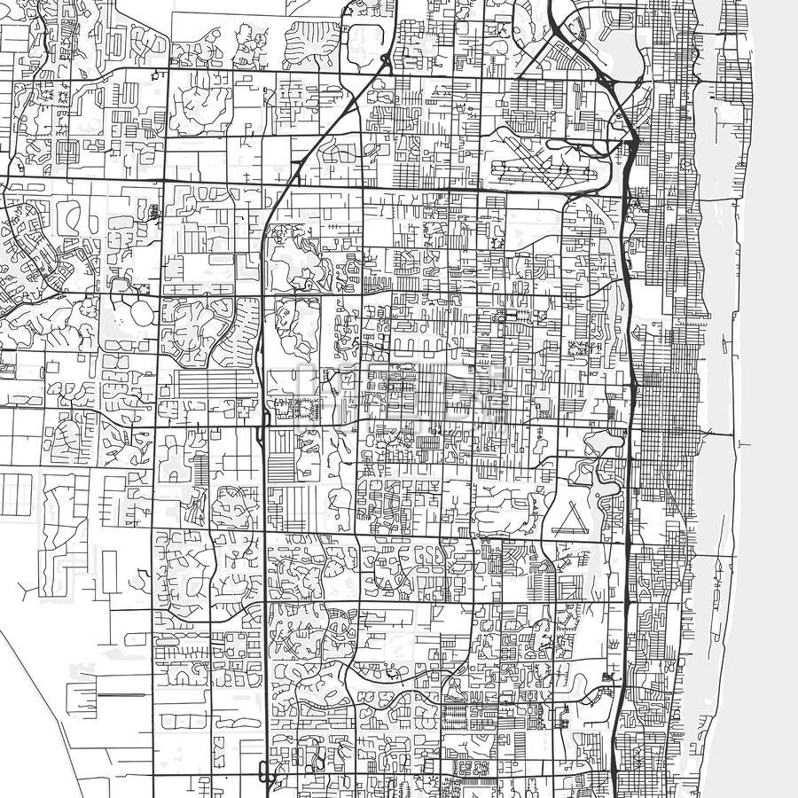 Map Of Greenacres Florida Greenacres, Florida   Area Map   Light   HEBSTREITS Sketches