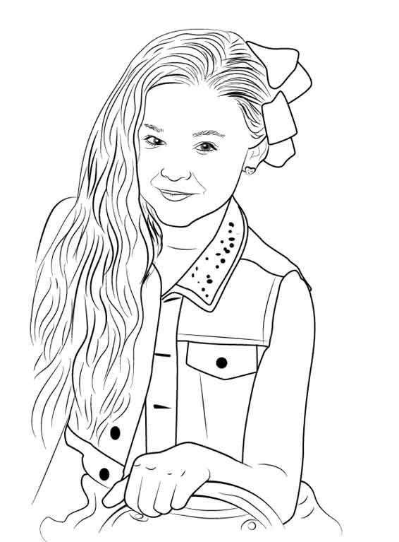 This is a graphic of Crafty Jojo Siwa Coloring Pages Printable