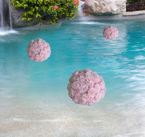 Floating flower ball. Half Flower Ball Pomander by KimeeKouture
