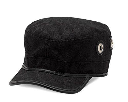 Gucci Original GG Canvas Military Hat 6d631f18b06