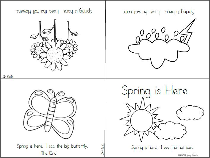 Free Foldable Spring Mini Book