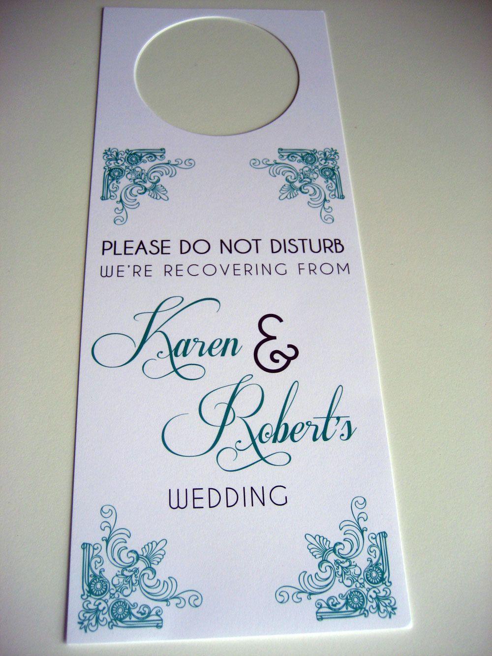 Wedding Door Hangers, Unique Wedding Favors, Wedding Welcome Bags ...