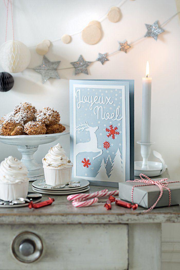 diy de noel des cartes de vœux en papier christmas diy marie claire idees