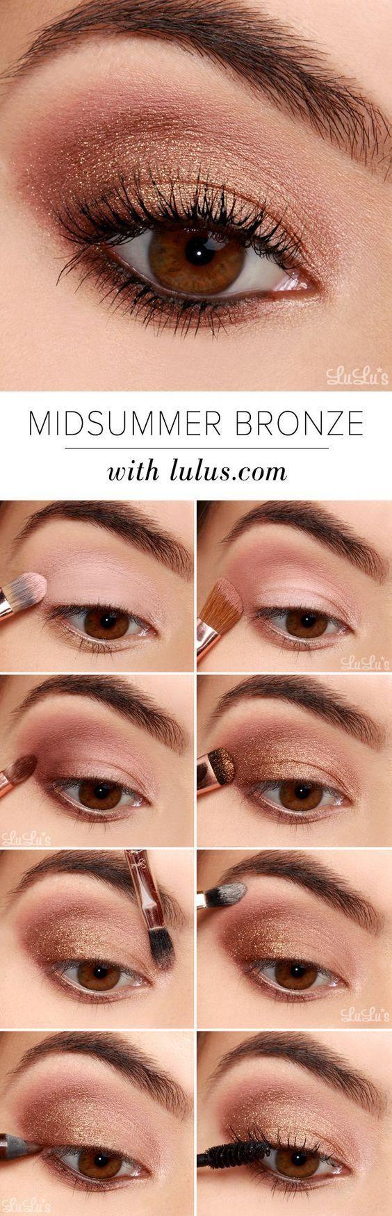 20 easy step by step eyeshadow tutorials for beginners | makeup