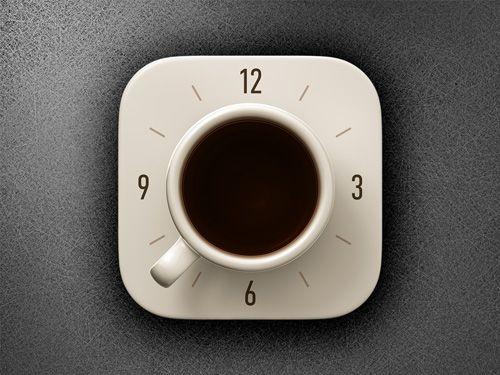 Coffee Alarm Clock iOS icon #mobileappicons #iosappicon