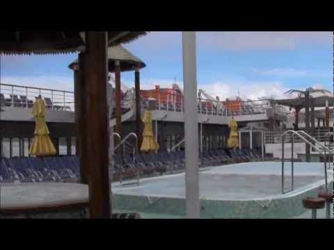 A short inspection tour of the Carnival Inspiration cruise ship.