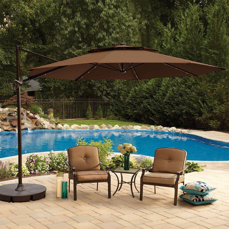 Umbrella covers for patio umbrellas - Amazon Com 11 Foot Round Solar Cantilever Umbrella With 360 Rotation Vented Canopy An Umbrellas 2016large Patio