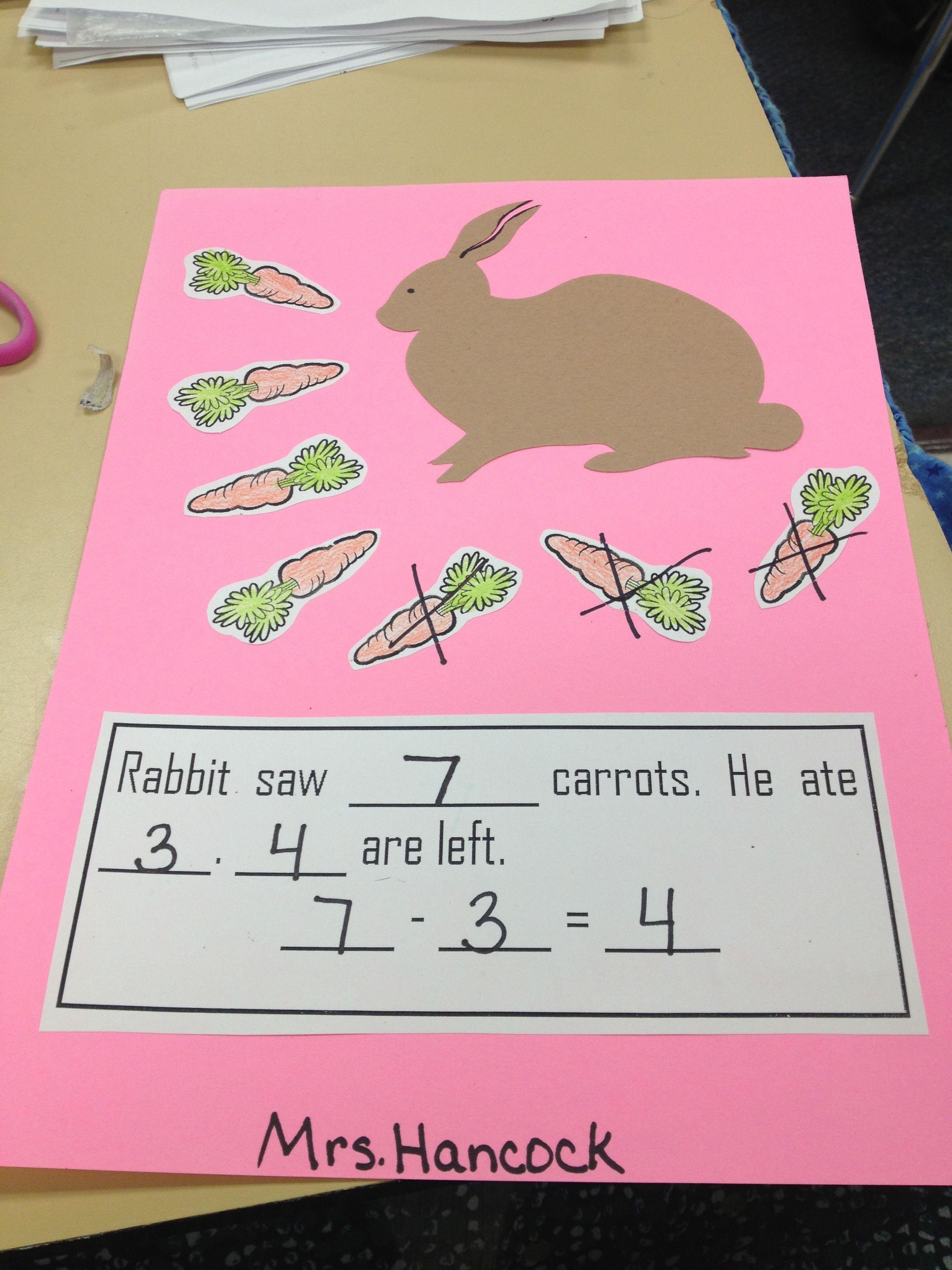 Kindergarten Subtraction Link But I Like The Story