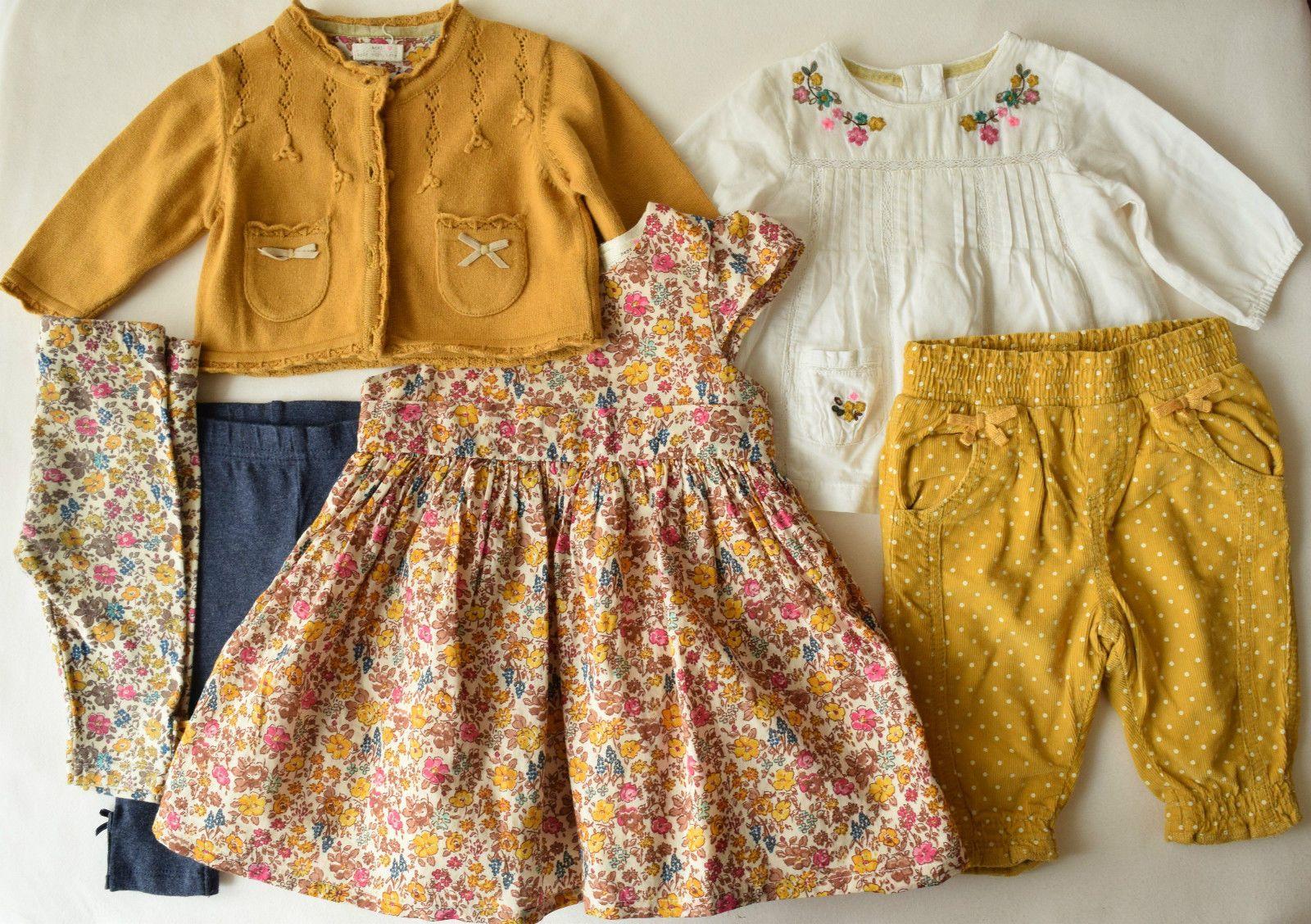 NEXT Set Gr. 62 68 3 M Kleid Hängerchen Bluse Leggings Hose Cardigan senf in Baby, Kleidung, Schuhe & Accessoires, Mädchen | eBay