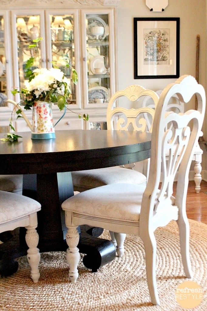 How To Spray Paint Dining Chairs Dinning Room Chairs Painted