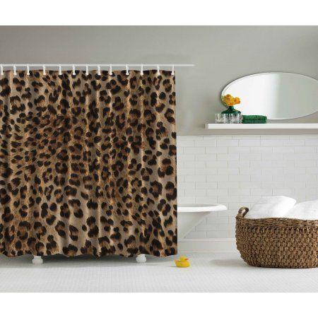 Buy Sexy Leopard Nearly Natural Wildlife Safari Fur Skin Animal Print Shower Curtain At Walmart