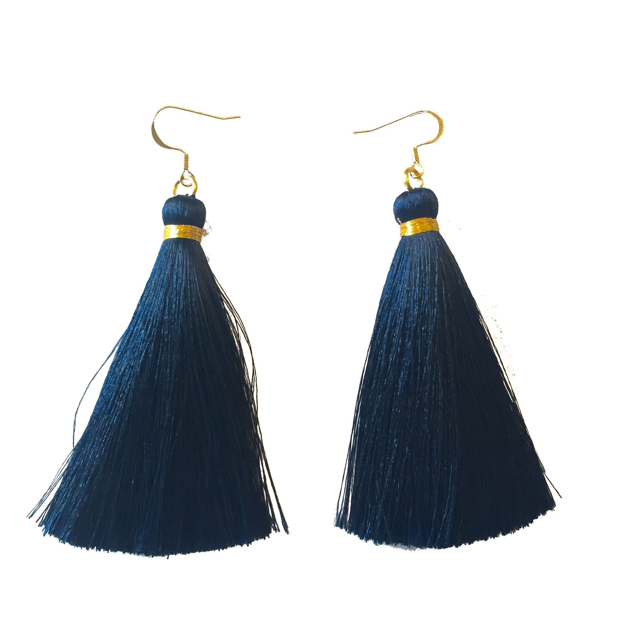 Nautical Navy Tassel Earring