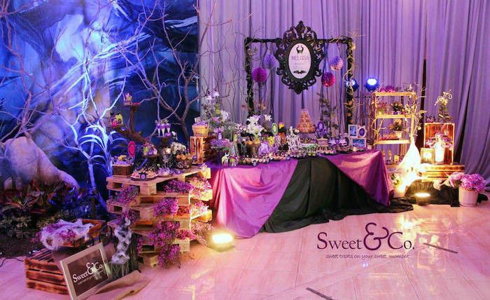maleficent themed 17th birthday party.Top 20 17th Birthday Party Ideas #17thbirthday