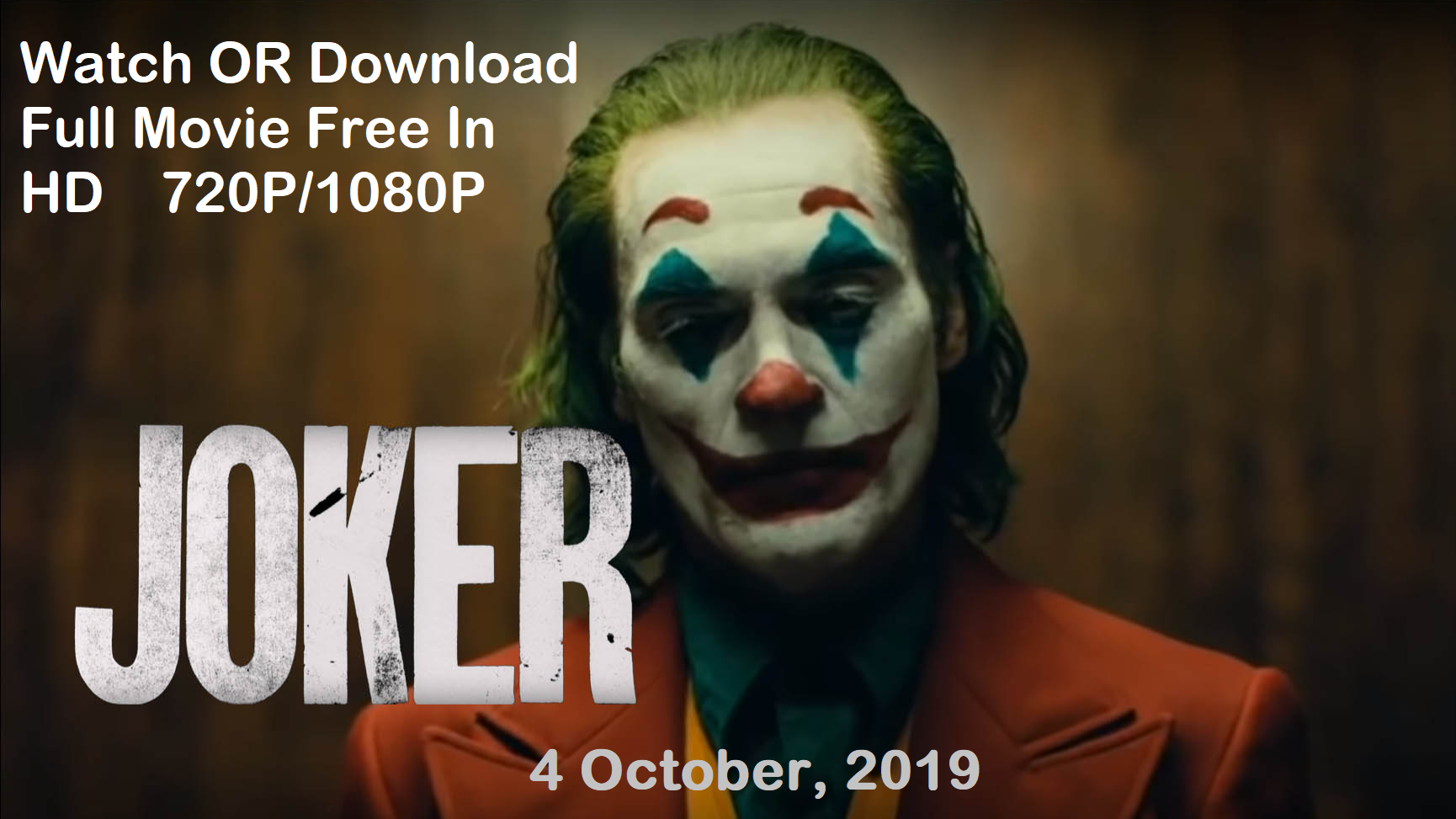 MegaSHARE>>[123.MovieS] Watch Joker Online (2019) Movie