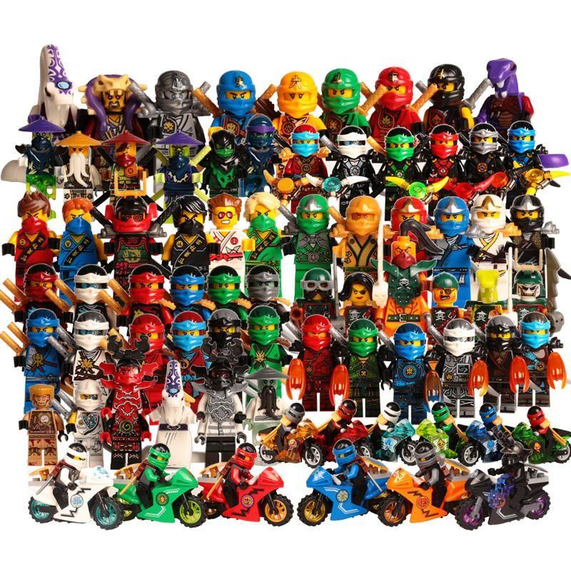 15PCS Ninja Blizzard Samurai Sword Master Mini Figure Building Blocks DIY Toy