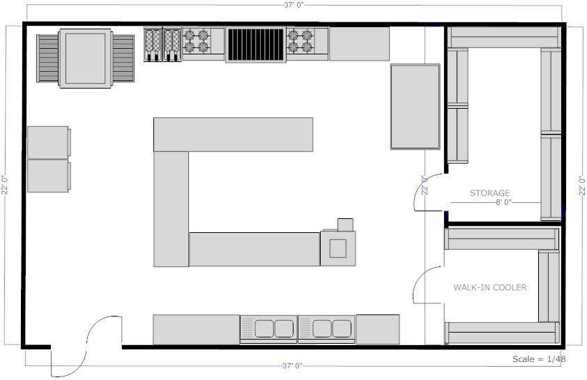 Restaurant Kitchen Layout Floor Plans Freelancers Jobs Equipment